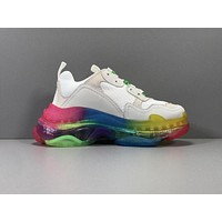 Balenciaga Triple S Clear Sole Trainers Rainbow Sneakers 35-45