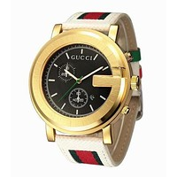 GUCCI Fashion Woman Men Casual Quartz Movement Watch Wristwatch And Couple Ring I