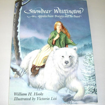 Snowbear Whittington, vintage fantasy story book, Christmas gift, illustrated fairy tale, Like New
