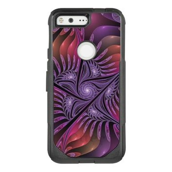 Colorful Fantasy Abstract Modern Purple Fractal OtterBox Commuter Google Pixel Case
