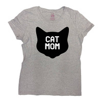 Funny Cat T Shirt Cat Lover Gifts For Mom Gift Ideas Kitten TShirt Mommy Clothes Kitty Shirt Animal Lover Cat Mom T-Shirt Ladies Tee - SA793
