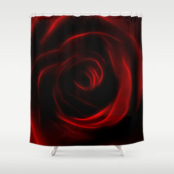 Eternal love red rose Shower Curtain by Laureenr