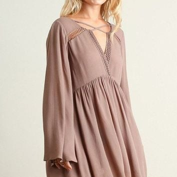 Trend Watch Swing Dress - Mocha