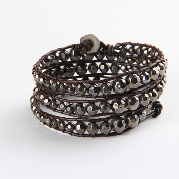 Black Mix Wrap Bracelet