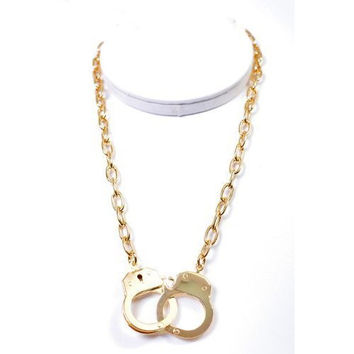 Golden Handcuff Necklace