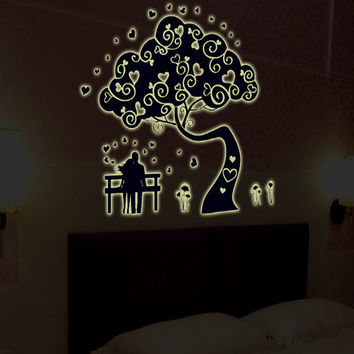 New product Luminous sitting room bedroom home decoration wall stickers in the wall to stick on the wall SM6