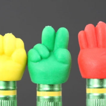 Hand Pencil Topper Eraser Set