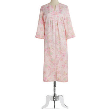 Miss Elaine Paisley and Floral Zip Robe