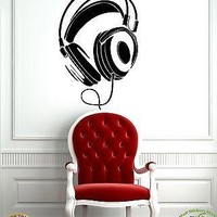 Wall Stickers Vinyl Decal Headphones Music Youth Decor For Living Rooms Unique Gift z1092