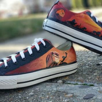 The Lion King Hand Painted Converse