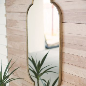 Large Metal Framed Wall Mirror