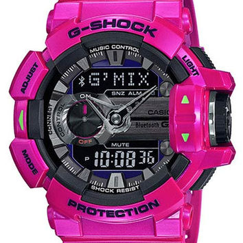 Casio G-Shock G-Mix - Bluetooth Watch - Pink Case & Strap - 200M - Flash Alert