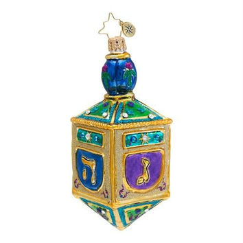 Glass Hanukkah Ornament - Multi Color
