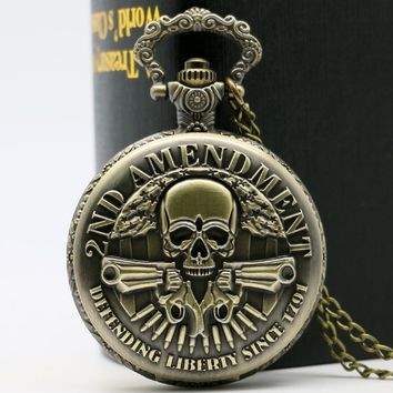 Bronze 2nd Amendment Pocket Watch