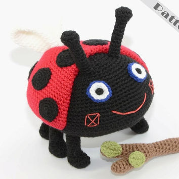 Gaston Ladybird Fetch The Stick Soft Toy From Ben & Holly's Little Kingdom CROCHET PATTERN, Amigurumi