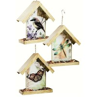 SheilaShrubs.com: Art Vistas Bird Feeders (Set of 3) 2BF614 by Evergreen Enterprises: Seed Feeders