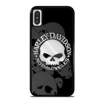 HARLEY DAVIDSON SKULL LOGO 2 iPhone X Case Cover