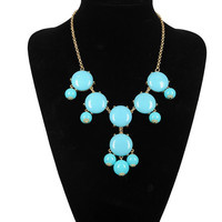 HOT SALE Turquoise 6 stone Bubble Necklace,Handmade Bib Necklace,Statement Neckalce-S6001