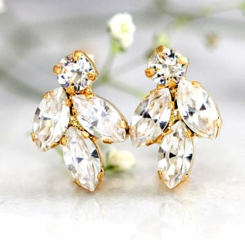 Bridal Crystal Earrings,Swarovski Bridal Crystal Earrings,Bridal Cluster Earrings,Bridesmaids Earrings,Crystal Bridal Earrings,Crystal Studs
