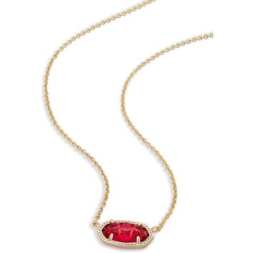 Kendra Scott: Elisa Pendant Necklace In Berry Glass