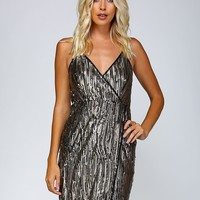 Parker Sparkle Fitted Dress