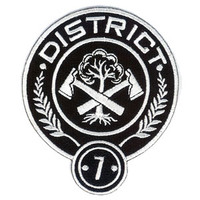 "Hunger Games District 7 Embroidered 4"" Patch"