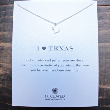 dogeared I ♥ texas Pendant Necklace, sterling silver
