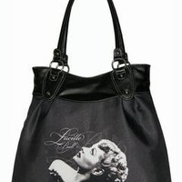 NEW I LOVE LUCY BAG LARGE BLACK PURSE 19""