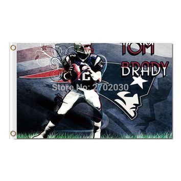 Tom Brady 12 Jerseys Design New England Patriots Flag Football Banners 3ft X 5ft Banner Super Bowl Champions Flag Tom Brady