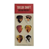 "Taylor Swift ""Red Tour"" Guitar Picks, Pack of Six Photo Collector's Picks"