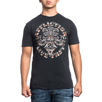 Affliction Men's Royal Lord Chrome S/S T-Shirt Black