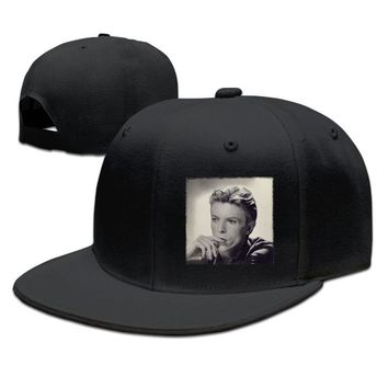 David Bowie Changesonebowie Printed Unisex Adult Womens Fitted Hats Mens Fitted Hats