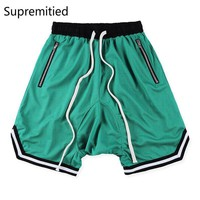 Supremitied Fear of God Shorts Men Hip Hop FOG Drawstring Kanye Summer Harem Casual Ju