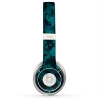 The Teal Vector Camo Skin for the Beats by Dre Solo 2 Headphones