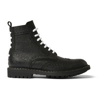Givenchy - Pebbled-Leather Boots | MR PORTER