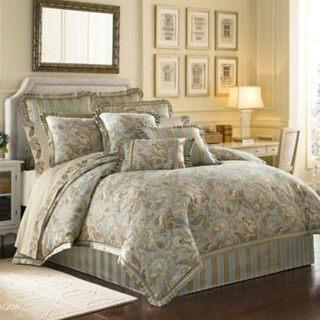 J. Queen New York™ Alicante Queen Comforter Set in Aqua