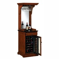 Pinot Tresanti Wine Cabinet with Built-in Wine Cooler at Brookstone—Buy Now!