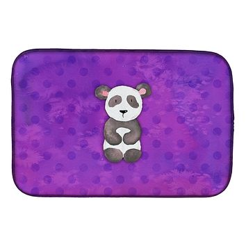Polkadot Panda Bear Watercolor Dish Drying Mat BB7375DDM
