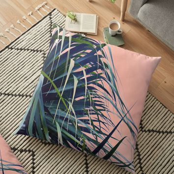 'Feather Palm' Floor Pillow by RoxanneG