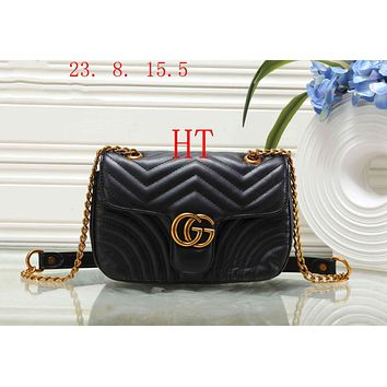 GUCCI 2018 counter female fashion high quality PU clutch bag F-OM-NBPF black