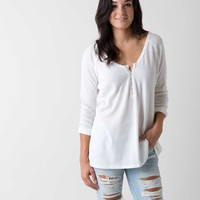 Gilded Intent Raw Edge Henley Top