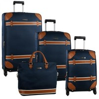 Anne Klein Vintage Four Piece Luggage Set