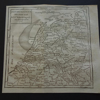 1793 HOLLAND antique map Original 200+ years old French print about The Netherlands Amsterdam Utrecht - small vintage historical maps
