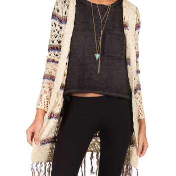 Hooded Knit Colored Striped Cardigan - Large