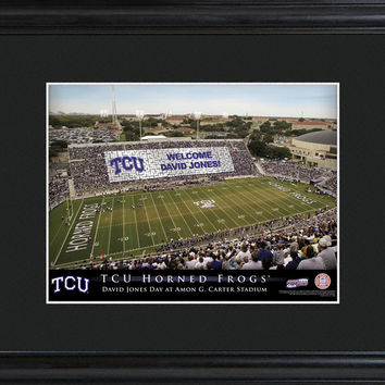 Personalized College Stadium Sign w/Matted Frame - TCU