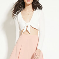 Box-Pleated Mini Skirt