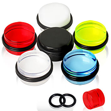 UV Coated Acrylic Plug with O-Rings