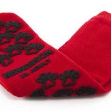 McKesson Terries 40-3811 Slipper Socks Adult X-Large Red Above the Ankle- 48 Count