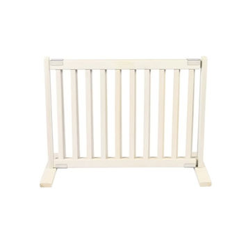 Dynamic Accents Free Standing Wooden Pet Gate, Size - Small / Warm White