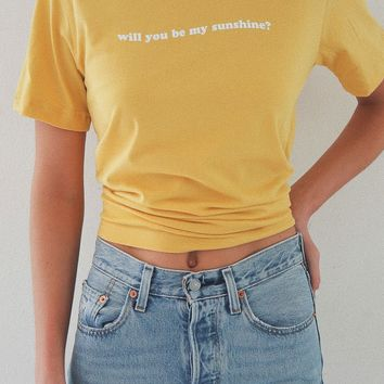 Will You Be My Sunshine Tee - Yellow